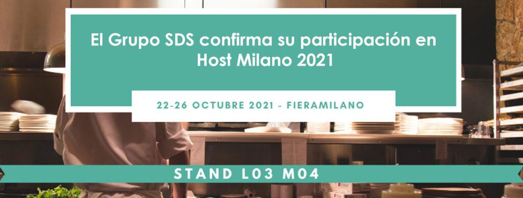 El Grupo SDS confirma su participación en Host Milano 2021